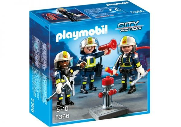 Playmobil City Action 5366 Fire Rescue Crew - fire rescue crew products box front playmobil - pop toys