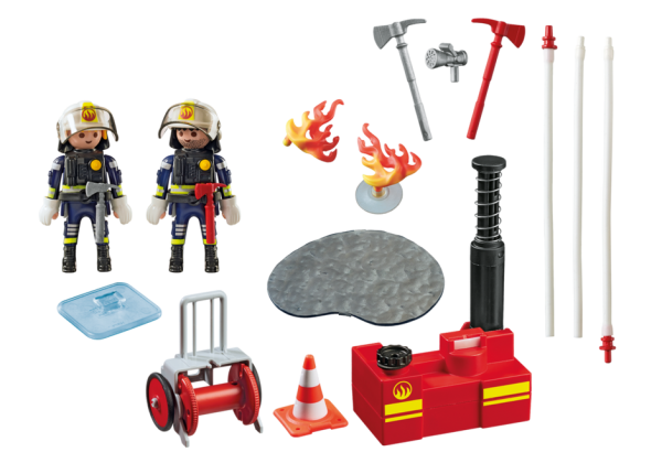 Playmobil City Action 5397 Fire Fighting Operation w/ water pump - fire fighting operation action figure product inclusion playmobil - pop toys