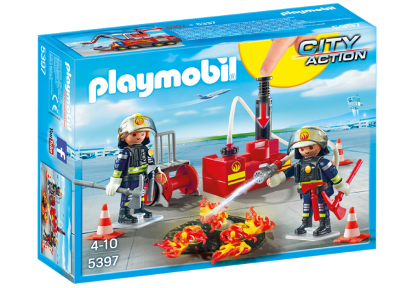 Playmobil City Action 5397 Fire Fighting Operation w/ water pump - fire fighting operation action figure product box front playmobil - pop toys