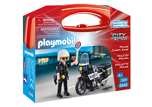 Playmobil City Action 5648 Police Carry Case - police carry case product front playmobil - pop toys