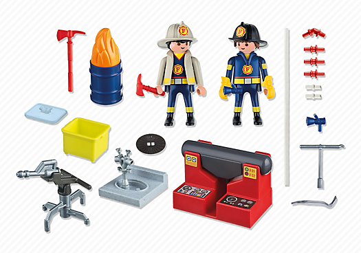 Playmobil City Action 5651 Fire Rescue Carry Case - fire rescue carry case product inclusion playmobil - pop toys