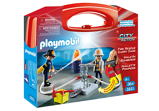 Playmobil City Action 5651 Fire Rescue Carry Case - fire rescue carry case product front playmobil - pop toys