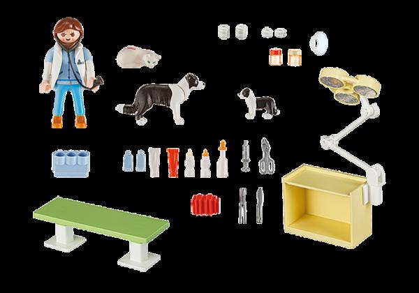 Playmobil City Life 5653 Vet Visit Carry Case - vet visit action figure product inclusion playmobil - pop toys