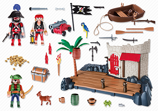 Playmobil Pirates 6146 Pirate Fort Super Set - pirate port action figures product inclusion playmobil - pop toys