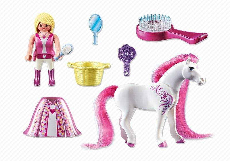Playmobil Princess Pink Horse Loose