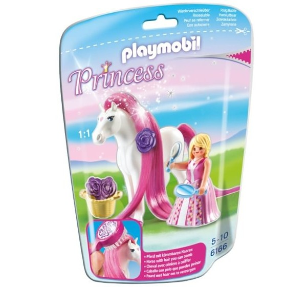 Playmobil Princess 6166 Princess Rosalie with Horse - image 6166_box-600x560 on https://pop.toys