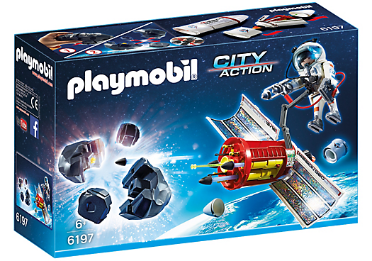 Playmobil City Action 6197 Space Mission Meteoroid Destroyer - Space Mission Meteoroid Destroyer action figure product front box playmobil - pop toys