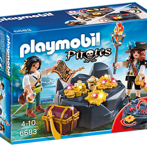 Playmobil Pirates 6683 Treasure Hideout - pirates treasure hideout product box front playmobil - pop toys