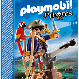 Playmobil Pirates 6684 Pirate Captain figure - pirates captain action figure product box front playmobil - pop toys