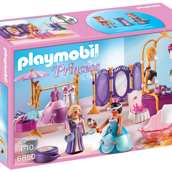 Playmobil Princess 6850 Dressing Room with Salon - image 6850_product_box_front-600x600 on https://pop.toys