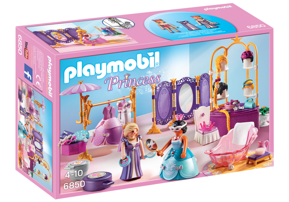 Playmobil Princess 6850 Dressing Room with Salon - image 6850_product_box_front on https://pop.toys