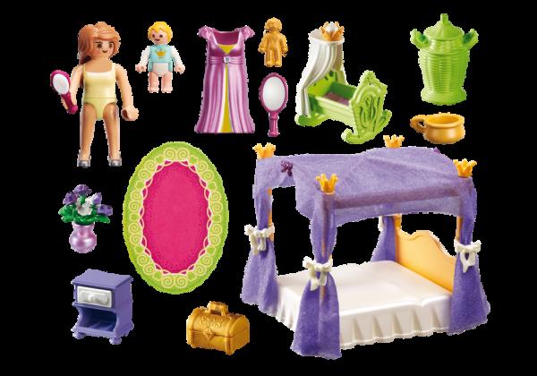 Playmobil Princess 6851 Princess Chamber with Cradle - Princess product inclusion playmobil - pop toys