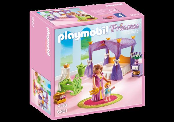 Playmobil Princess 6851 Princess Chamber with Cradle - Princess Box Front playmobil - pop toys