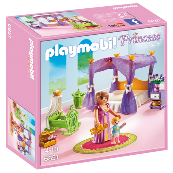 Playmobil Princess 6851 Princess Chamber with Cradle - image 6851_product_box_front-600x600 on https://pop.toys