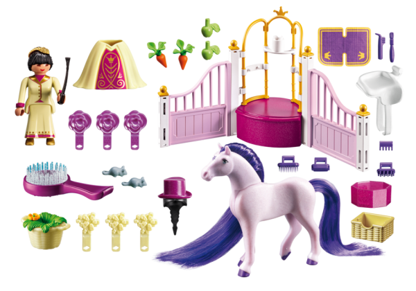 Playmobil Princess 6855 Castle Stable - Princess caste stable product inclusion - playmobil - pop toys