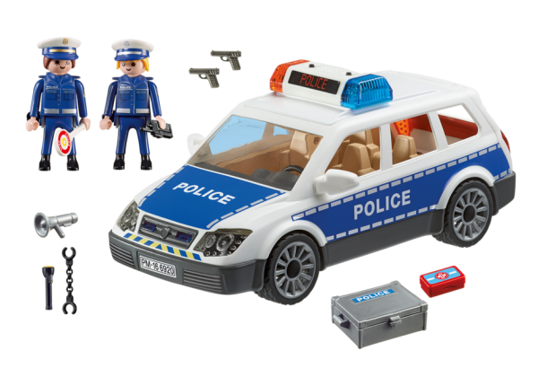 Playmobil City Action 6920 Police Car with lights & sound - police car action figure product inclusion playmobil - pop toys