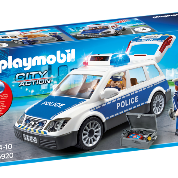 Playmobil City Action 6920 Police Car with lights & sound - image 6920_product_box_front-600x600 on https://pop.toys