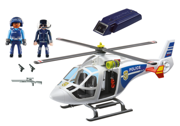 Playmobil City Action 6921 Police Helicopter with LED searchlight - police helicopter action figure product inclusion playmobil - pop toys