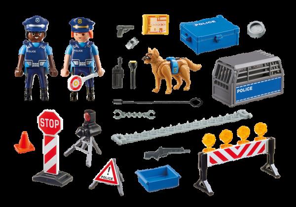 Playmobil City Action 6924 Police Roadblock - police roadblock action figure product inclusion playmobil - pop toys