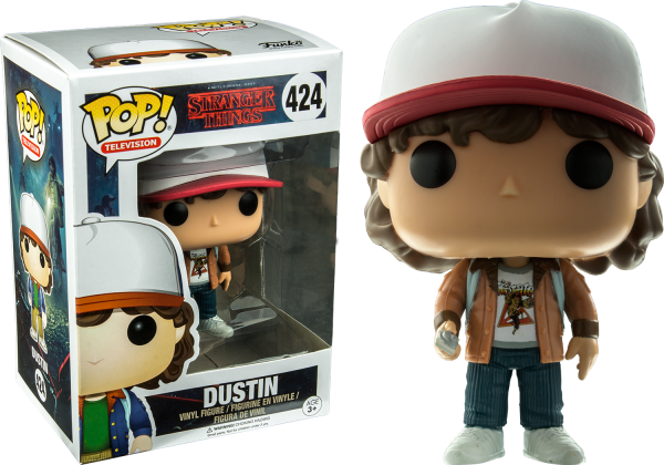 Stranger Things Pop Vinyl: Dustin with Brown Jacket #424 - dustin brown jacket stranger things pop vinyl - pop toys