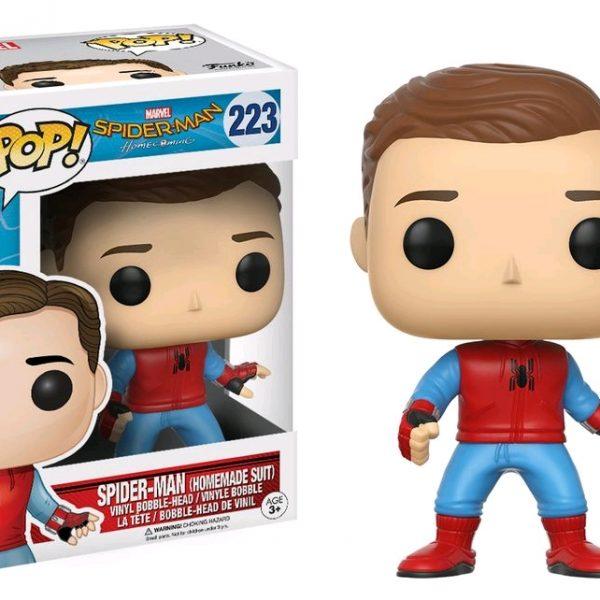 Homecoming Pop Vinyl: Spider-Man (Homemade suit Unmasked) #223 - image Spiderman-HC-Spiderman-Home-Suit-Unmasked-223-600x600 on https://pop.toys