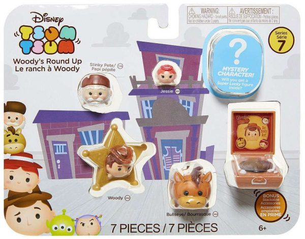 Disney Tsum Tsum 7 piece set Series 7 Figures – Woody's Round Up Toy Story - Woody's Round Up Toy Story package disney tsum tsum - pop toys