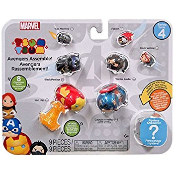 Marvel Tsum Tsum 8 Pack Series 4 Figures – Avengers Assemble - avengers assemble package marvel tsum tsum - pop toys