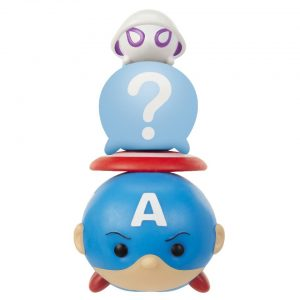 Marvel Tsum Tsum 3 Pack Series 2 Figures – Captain America, Spider-Gwen and Hidden - captain america, spider-gwen marvel tsum tsum - pop toys