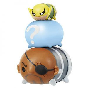 Marvel Tsum Tsum 3 Pack Series 2 Figures – Nick Fury, Iron Fist and Hidden - nick fury, iron fist marvel tsum tsum - pop toys