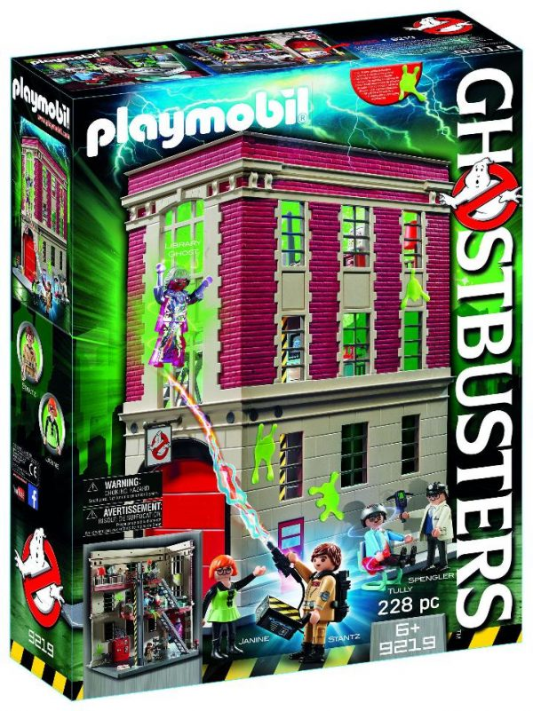 Playmobil Ghostbusters 9219 Firehouse Playset - ghostbusters firehouse front box playmobil - pop toys
