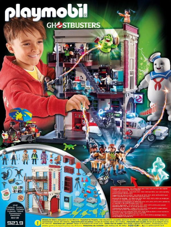 Playmobil Ghostbusters 9219 Firehouse Playset - ghostbusters firehouse product inclusion playmobil - pop toys