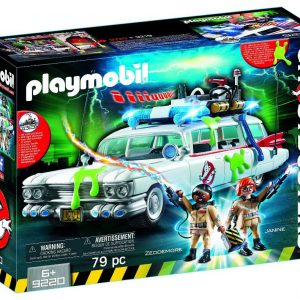 Playmobil Ghostbusters 9220 Ecto-1 Vehicle and figures front box - ecto-1 vehicle ghostbusters playmobil - pop toys