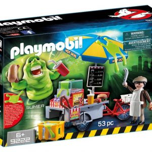 Playmobil Ghostbusters 9222 Slimer and Hot Dog Stand Playset - ghostbusters slimer action figure product front box playmobil - pop toys