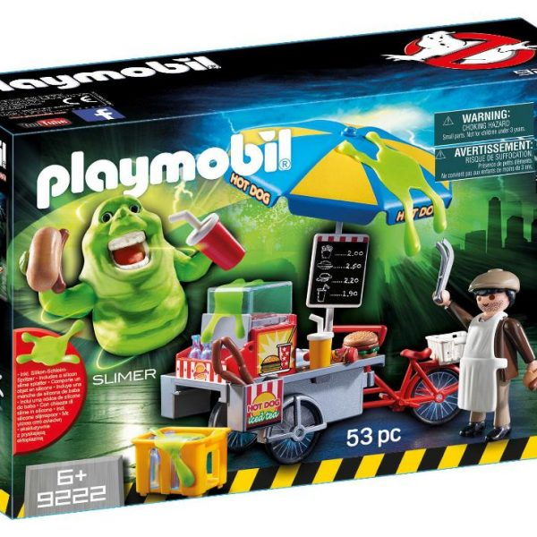 Playmobil Ghostbusters 9222 Slimer and Hot Dog Stand Playset - image GB_9222_Slimer-600x600 on https://pop.toys