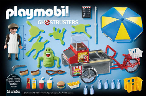 Playmobil Ghostbusters 9222 Slimer and Hot Dog Stand Playset - ghostbusters slimer action figure product inclusion playmobil - pop toys