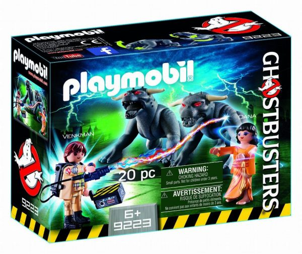 Playmobil Ghostbusters 9223 Peter Venkman, Zuul &; Terror Dogs - ghostbusters product front box playmobil - pop toys