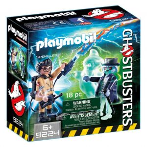 Playmobil Ghostbusters 9224 Spengler and Ghost Action Figures - ghostbusters action figure front box playmobil - pop toys