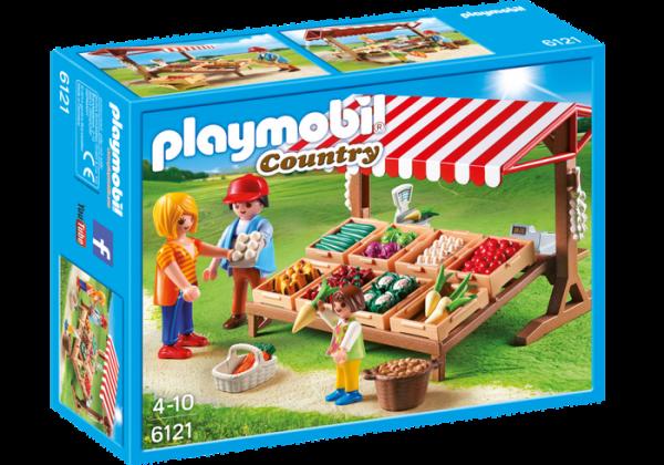 Playmobil Country 6121 Farmer's Market - farmer's market product front box playmobil - pop toys