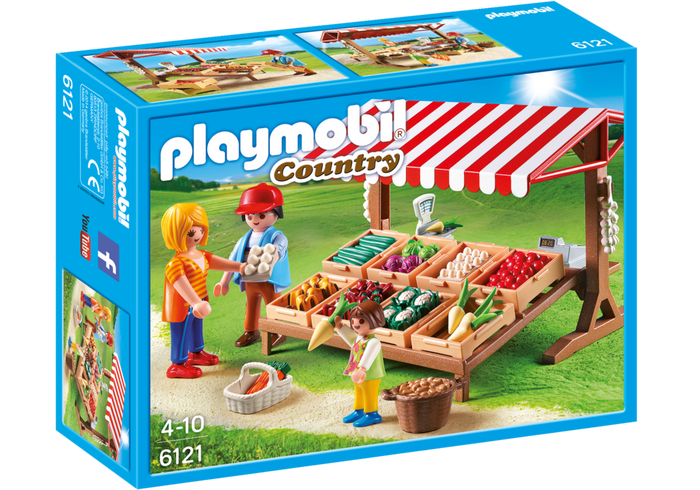 Playmobil Country 6121 Farmer's Market - image 6121_farmersmarket_box_front on https://pop.toys