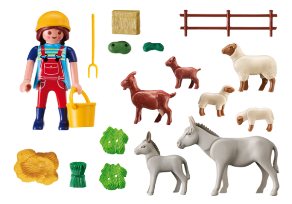 Playmobil Country 6133 Farm Animal Pen - farm animal pen product inclusion playmobil - pop toys