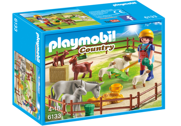 Playmobil Country 6133 Farm Animal Pen - farm animal pen product box front playmobil - pop toys
