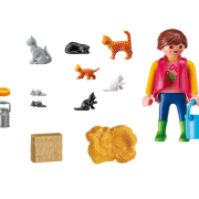 Playmobil Country 6139 Woman with Cat Family - image 6139_Cat_lady_inside-180x180 on https://pop.toys