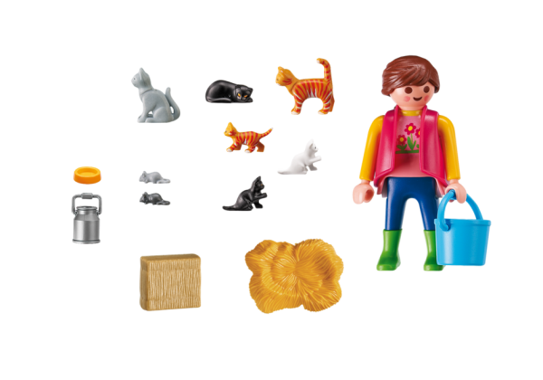 Playmobil Country 6139 Woman with Cat Family - product inclusion playmobil - pop toys