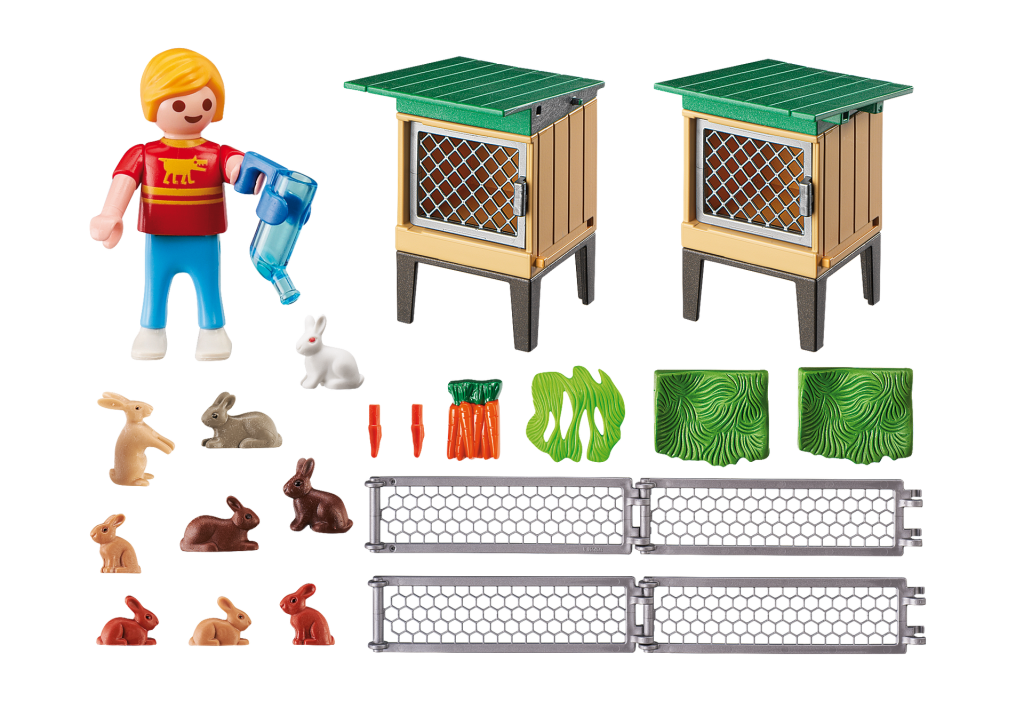 Playmobil Country 6140 Rabbit Pen with Hutch - image 6140_rabbit_hutch_loose-1024x717 on https://pop.toys