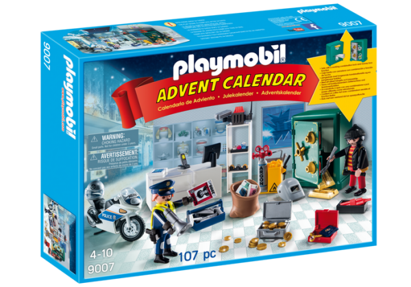 Playmobil Advent Calendar 9007 Jewel Thief Police Operation - advent calendar playmobil front box - buy pop toys