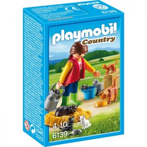 Playmobil Princess 6856 Royal Couple with Carriage - image Playmobil-6139-Woman-Cat-Family-Country-300x300 on https://pop.toys