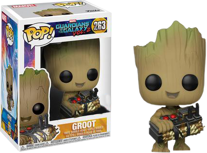 Marvel Pop Vinyl: GOTG Vol 2 Groot with detonator/bomb #263 - image gotg2-groot-bomb-gear-funko-pop-vinyl on https://pop.toys