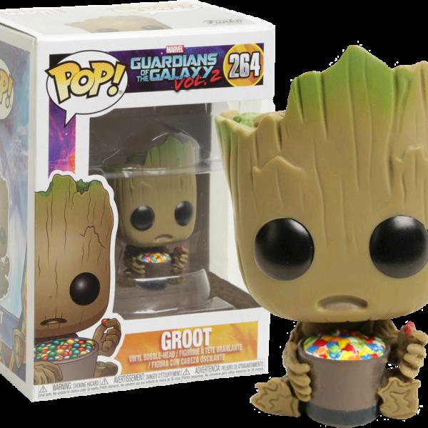 Marvel Pop Vinyl: GOTG Vol 2 Groot with Candy Bowl #264 - image marvel-GOTG2-groot-with-candy-bowl-funko-pop-vinyl-figure-600x600 on https://pop.toys