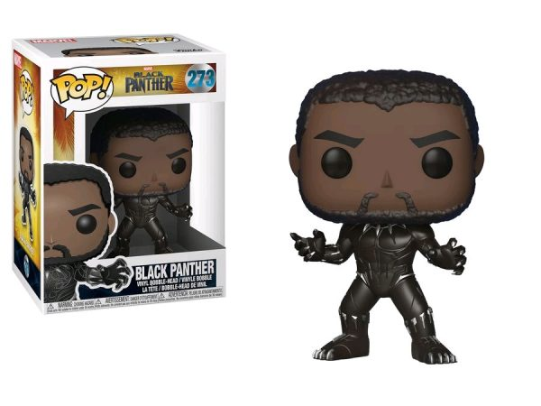 Black Panther Movie Pop Vinyl: Black Panther (Unmasked) #273 - black panther action figure pop vinyl avengers - pop toys