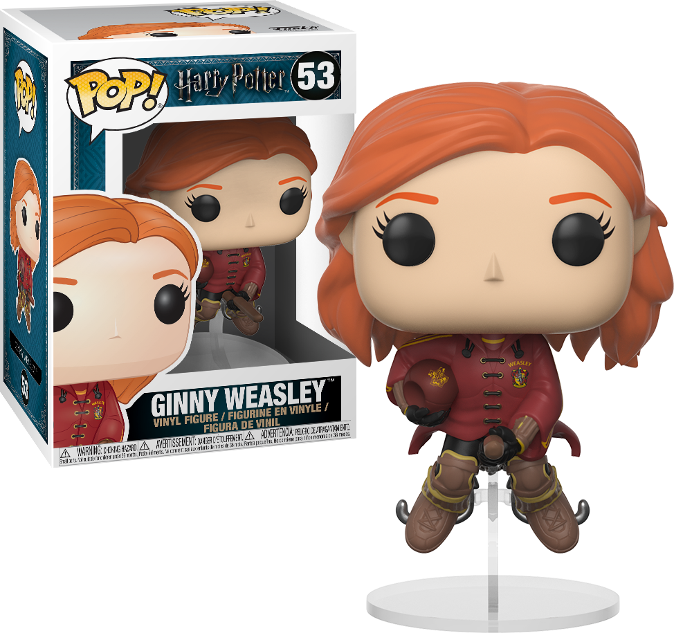 Harry Potter Pop Vinyl Ginny Weasley On Broom Quidditch